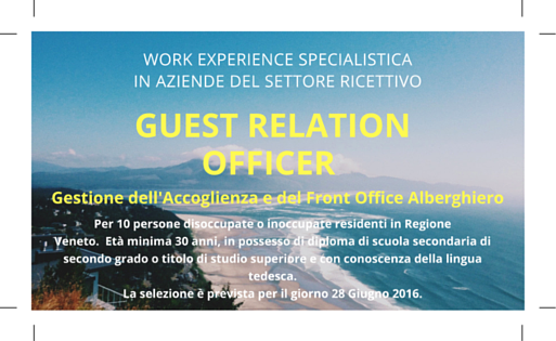Work Experience: Guest Relation Officer